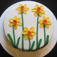 Daffodils A lemon cake with buttercream, with fondant daffodils. I wanted to make a spring cake for a good friend. Thanks to nikra for the...