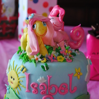 "My Little Pony Friendship Is Magic Cake MLP Friendship is Magic cake for daughter's b-day party in March. All gumpaste and fondant accents except ""9"" candle on top..."