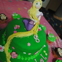 Tangled Cake And Cupcakes Rapunzel, Flynn and Pascal for my daughter's 8th birthday. She found a picture on Flickr of this cake. Rapunzel & the faces are...
