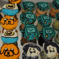 Adventure Time Cupcakes All goopy buttercream, but the kids LOVED them.