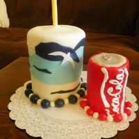Coke And Cup For a friend at work who always drinks coke! I made the cup to resemble the one she usually uses. Orange Dream cake with vanilla...