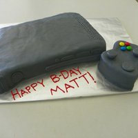 Xbox 360   Cereal treat XBOX, cake controller. Fondant.