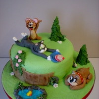 Tom And Jerry tom and jerry cake all figures ect made of sugarpaste