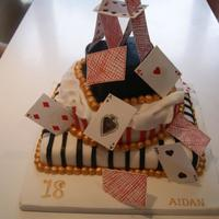 Birthday Cake *Pack of Cards three tier Birthday cake