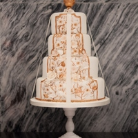 4 Tier Ribbon Wedding Cake