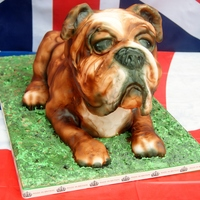 British Bulldog Birthday Cake All Hand Carved British Bulldog birthday cake All hand carved.