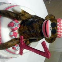 Sock Monkey 1St Birthday Cake