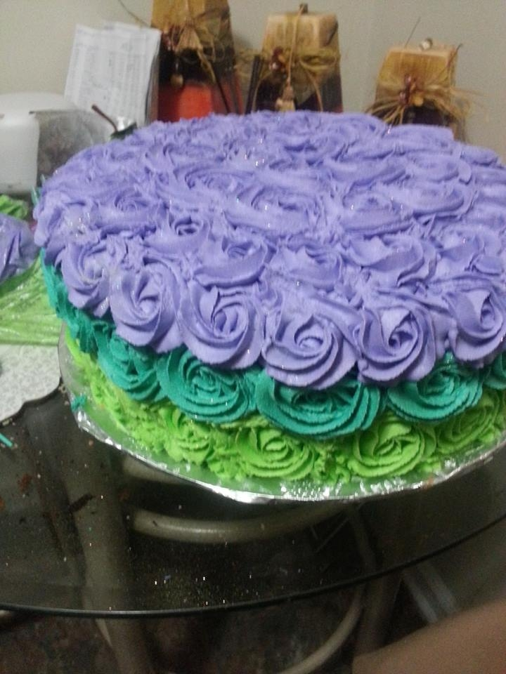 My First Attempt At This Type Cake Customer Requested The Colors my first attempt at this type cake, customer requested the colors