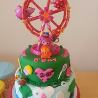 Lalaloopsy   fondant covered strawberry cake Lalaloopsy