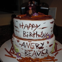Angry Beaver Birthday cake for a friend with a CB handle of Angry Beaver.