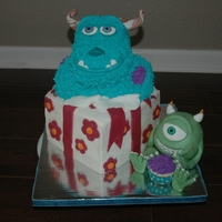 Monsters Inc Monsters Inc for my sister in law...Mike looks OK but I think poor Sully looks like a Yak..lol. Sully & Mike are made from RKT....