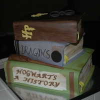 Harry Potter Book Cake My first book cake...it was much easier than I had anticipated. I really enjoyed making it.