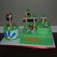 Angry Birds Angry birds...birds & pigs are fondant. All the boards are a 50/50 mix of fondant gumpaste