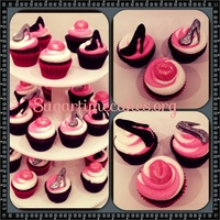 Stiletto Gumpaste And Lip Cupcake Tops Stiletto gumpaste , and lip cupcake tops