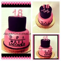 Opi Nail Polish Fondant Covered Red Velvet Cake OPI nail polish fondant covered red velvet cake