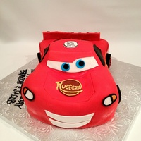 Lightning Mcqueen 3D Cars Disney Chocolate Cake Cut And Carve Frosted In Buttercream Covered In Fondant All Lights Etc Are Fondant And Lightning McQueen , 3D cars , Disney Chocolate cake cut and carve frosted in buttercream covered in fondant all lights etc are fondant and...