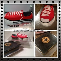Converse Shoe And Box Cake Will Post Step By Step Photos Soon Converse shoe and box cake will post step by step photos soon