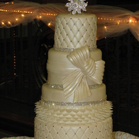 Traditional Wedding Cake With Bling
