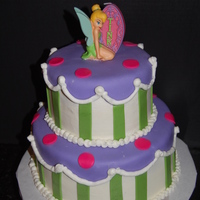 Tinkerbell 2 tier BC icing with fondant accents