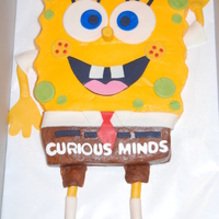 Sponge Bob Square Pants BC icing with Fondant accents