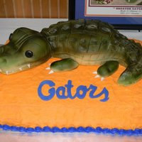 Florida Gator Gator made from RKT and fondant