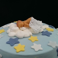 Sleeping Baby Shower Cake