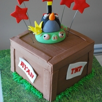Angry Bird Tnt Cake!   Original design by the talented Lesley of Royal Bakery
