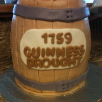 Brothers Birthday Cake My brother is a big fan of Guinness Beer so I make him this Beer barrel cake with actual beer inside and a working spout. He loved it. It...