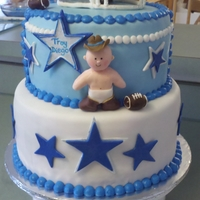 Dallas Cowboys Baby Shower dallas cowboys themed baby shower cake
