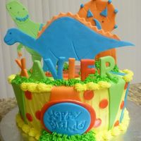 Dinosaur Cake   Buttercream. Decorations are MMF