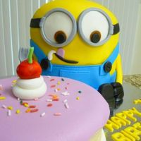 Baby Minion   Cake for a first birthday party.