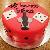 Bunco A cake for bunco night....and wine drinking....