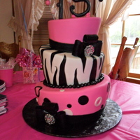 Marissa's Zebra Birthday Cake My first topsy turvey! I am so excited about how it turned out. I highly recommend Sugarshack's DVD! This is all practice for an...