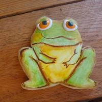 Water Color Frog Using Food Coloring *Water color frog using food coloring.
