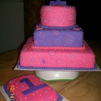 Pink/purple Polka Dots W/smash Cake