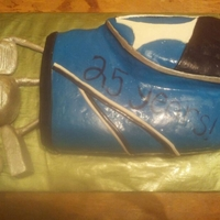 Retirement Cake Golf bag