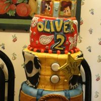 Toy Story Tiered Birthday Cake