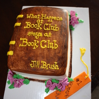 Book Club Cake This was my first time making a book cake. It was fun but now I know what to do the next time. I think it turned out great for my first...