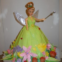 Tinkerbell Tinkerbell Doll with gum paste and fondant flowers