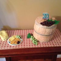 All Edible Except For Candle Wine Barrel Is Marbled Almond Cake With Cookies Amp Cream Mousse Amp Pretzels 6 8 In Rounds The Chees  *all edible except for candle. Wine barrel is marbled almond cake with cookies & cream mousse & pretzels (6 8-in rounds); the...