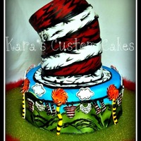 Dr.seuss Baby Shower Cake  Dr.Seuss baby shower cake which was directly inspired by Breanna O'Donnell Kealey. Everything is cake and all the accents are hand-...