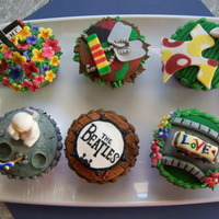 Salute To The 60S Themed Cupcakes Salute to the 60's themed cupcakes.