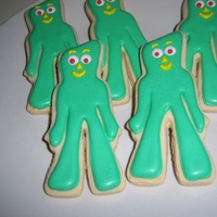 He Was Once A Little Round Ball Of Clay Gumby Cookies. Got the cutter back in the 90's free from Domino Sugar. 15 years later decided to make the cookies. It was fun. Enjoy