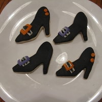 Witch Shoe Cookies   NFSC with fondant.