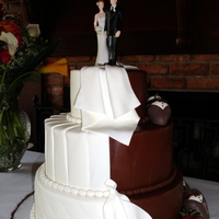 Half And Half Wedding and groom's cake all in one!