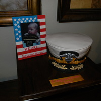 Navy Officer's Hat This was the hat he was receiving for his promotion in the Navy. They just had a baby girl as well, and when the sent me that picture I...