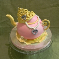 Princess Tea Party Chocolate Cake with Chocolate Buttercream. All gumpaste/fondant decorations.