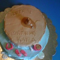 Girls Beach Birthday I hand made all the items on this cake out of fondant. It's a whipped icing as they wanted a lite taste. I used a toothpick to do the...