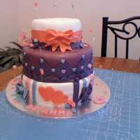 "This Was A My Little Pony Theme Cake The Cake Was Concluded With A My Little Pony Doll On Top This was a ""My little pony theme cake"" The cake was concluded with a My little Pony doll on top."