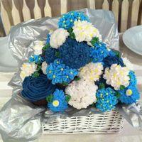 Shades Of Blue Cupcake arrangement for a friends retirement